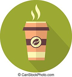 koffie, takeaway, pictogram