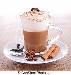 koffie, vlotter, milkshake, of, iced