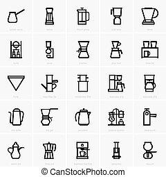 koffieautomaat, iconen