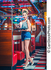 koffiehuis, waitress