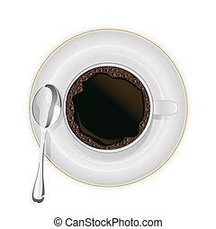 koffiekop, schotel