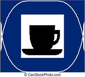 koffiekopjes, pictogram