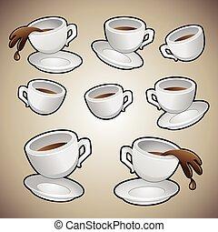 koffiekopjes, set