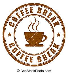 koffiepauze, meldingsbord