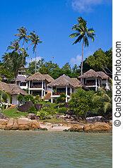 koh, νησί , τροπικός , σπίτι , σιάμ , παραλία , samui