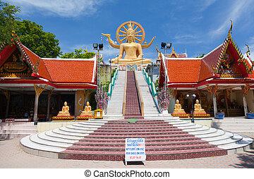 koh, buda grande, estatua, tailandia, samui