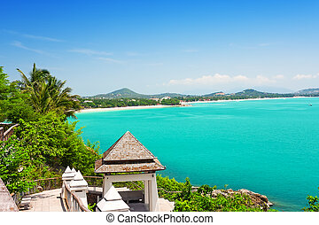 koh, chaweng, spiaggia, tailandia, samui, vista