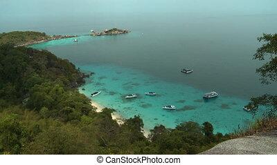 koh, gens, bateaux, île, similan