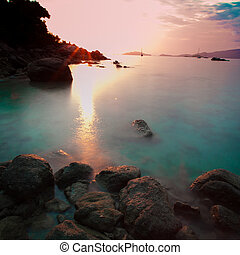 koh, lipe, tramonto, tailandia