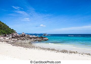 koh, pattaya, playa, larn, tailandia