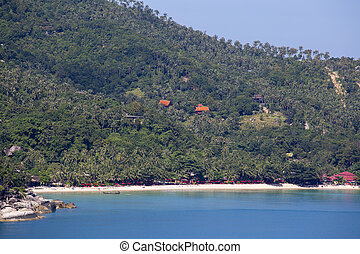 Koh Phangan, Thailand, Thong Nai Pan Noi beach and sea water...