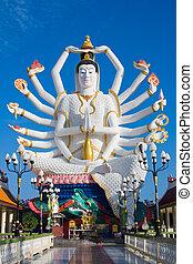 koh samui, île, shiva, statue, thaïlande
