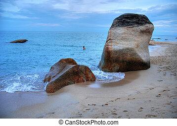 koh samui, agosto, rocas, 2007, tailandia