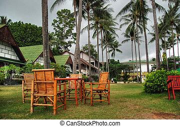 koh samui, agosto, villaggio, 2007, tailandia