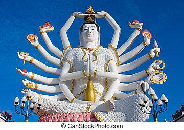 koh samui, isla, shiva, estatua, tailandia