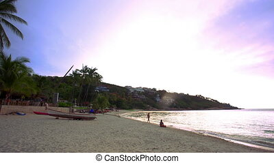Koh Samui. Thailand. 20 july 2014. Time lapse of beach and tropical sea.