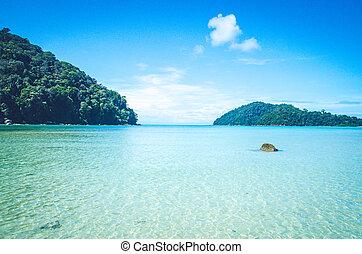 koh surin island blue sea and sand beach