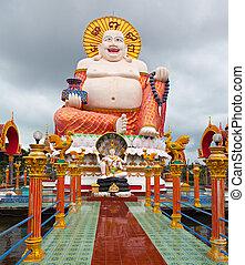 koh, tailandia, samui, buddha, grande