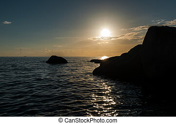 Koh Tao - a paradise island sunset in Thailand.