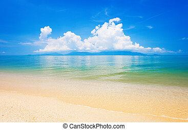 koh, tropical, sea., tailandia, playa, samui