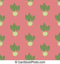 Kohlrabi Vegetable pattern