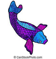 koi carp tattoo illustration