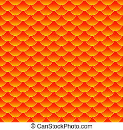 koi, escala, padrão, peixe, seamless, pequeno, goldfish, ou