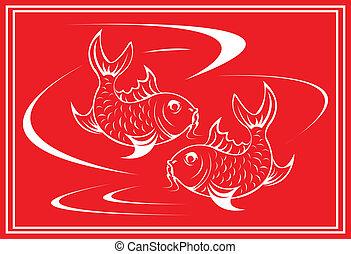 Koi fish.