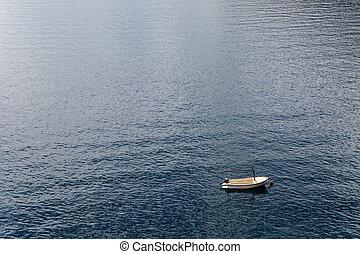 koja, biały, łódka, wiosła