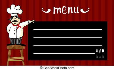 kok, menu, alledaags