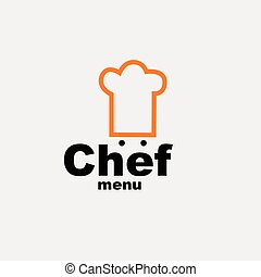 kok, menu, -, ontwerp, mal