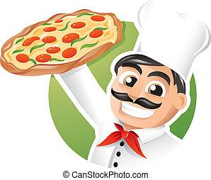kok, pizza