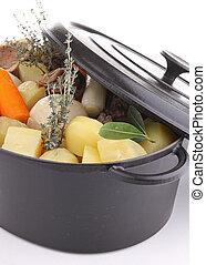 kokende pot, groentes