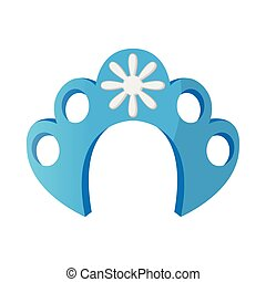 Kokoshnik icon in cartoon style