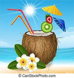 kokosnöt, cocktail