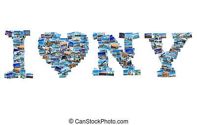 koláž, new york, fotit