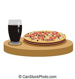 kola, délicieux, pizza