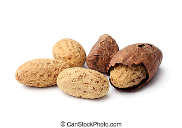 Kola nuts on white background