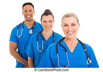koledzy, senior, medyczny doktor