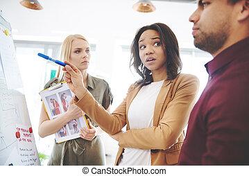 koledzy, spotkanie, posiadanie, handlowy