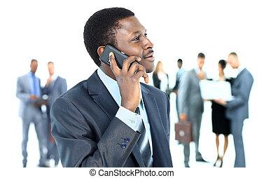 kolega, povolání, cela telefonovat, grafické pozadí, pouití, úsměv osoba, hezký