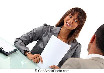 kolega, setkání, povolání