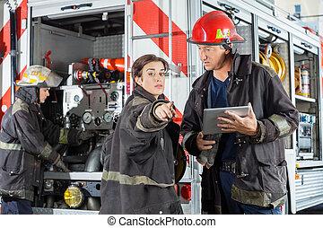 kolega, tabliczka, spoinowanie, firefighter, znowu, dzierżawa, cyfrowy