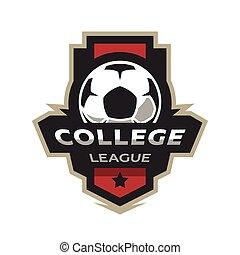 kolegium, piłka nożna, logo., liga