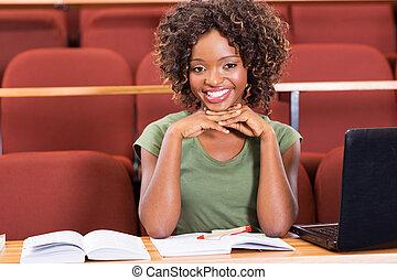 kolegium student, afrykanin