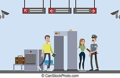 kolejowa stacja, illustration.