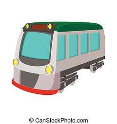 kolejowy pociąg, przewóz, lokomotywa, ikona