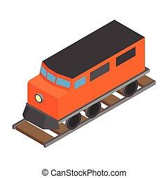 kolejowy pociąg, przewóz, lokomotywa