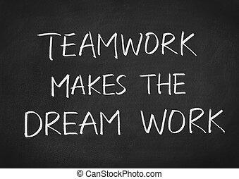 kolektivní práce, běžet, díla, sen