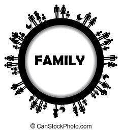 kolem, konstrukce, rodina, simbols